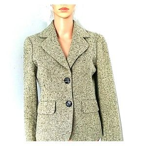 Ann Taylor Business Tweed Wool jacket 0